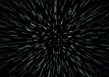 Hyperspace speed travel background Stock Photo