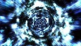 Hyperspace Sprung durch die Sterne zu einem entfernten Raum lizenzfreie abbildung