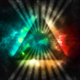 Hyperspace Triangle Background. Hyperspace digital Style - Background Classic Stock Images