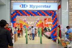 Hyperstar Supermarket. One of the biggest groceries in Pakistan,Hyperstar Supermarket, Emporium Mall, Lahore, Pakistan Royalty Free Stock Photos
