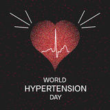 Hypertension awareness poster Royalty Free Stock Images