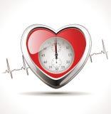 Hypertension - coeur sain illustration libre de droits