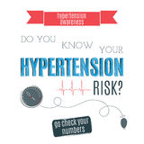 Hypertension Day card Stock Images