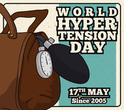 Hypertension Day Commemorative Poster in Retro Style, Vector Illustration Royalty Free Stock Photos