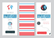 Hypertension Day set of banners Royalty Free Stock Photo
