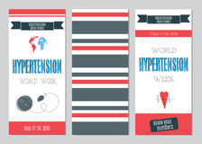 Hypertension Day set of banners Stock Image