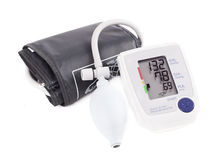 Hypertension digital blood pressure monitor - Tonometer. Stock I Stock Images
