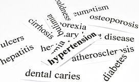 Hypertension. Health care concept of diseases caused by unhealthy nutrition Stock Photography