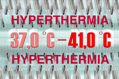Hyperthermie Stock Foto's