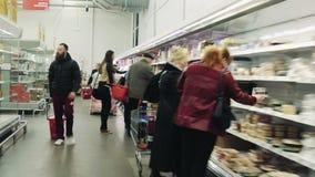Hypertijdspanne Hypermarket in de Eerste Persoon stock videobeelden