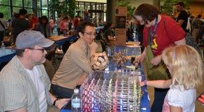 Hypnocube al mini creatore Faire di Ann Arbor fotografia stock