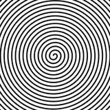 Hypnos cirklar koncentriskt Abstrakt textur för koncentriska cirklar också vektor för coreldrawillustration Spiral bakgrund för h stock illustrationer