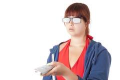 Hypnose de TV Photographie stock libre de droits