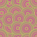 Hypnose pattern. Bright coloured hypnose seamless abstract pattern Stock Images