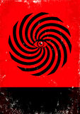Hypnosis. Red and black poster with hypnosis print stock illustration