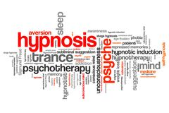 Hypnosis. Issues and concepts word cloud illustration. Word collage concept vector illustration
