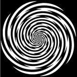 Hypnosis Spiral, Stress, Strain, Optical Illusion. Black and white descending spiral design pattern, concept for hypnosis, unconscious, chaos, extra sensory vector illustration