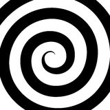 Hypnosis Spiral Pattern. Optical illusion. Vector Royalty Free Stock Image
