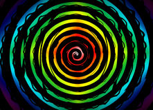 Hypnosis Swirl. Psychedelic hypnosis swirl background optical illusion illustration vector illustration