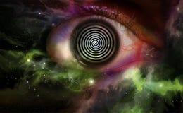 Hypnosis Swirl Universe. Psychedelic hypnosis swirl universe starscape optical illusion illustration stock illustration