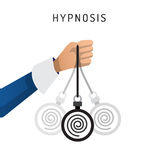 Hypnosis vector cartoon Royalty Free Stock Images
