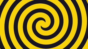 Hypnosis visualisation green an yellow whirlpool spiral transition animation