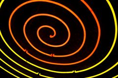 Hypnotic. Neon pattern Royalty Free Stock Photography