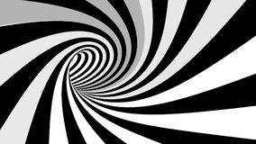 Hypnotic spiral illusion. Hypnotic abstract spiral black-white illusion Stock Photo