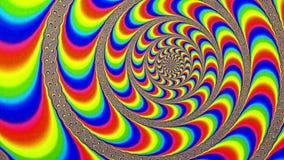Hypnotic Achtergrond van de Maalstroom Wervelende Animatie stock footage