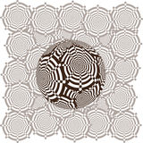 Hypnotic ball background. Color illustration of hypnotic striped balls Royalty Free Stock Images