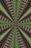 Hypnotic Cascade Maze Abstraction Stock Afbeelding