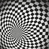 Hypnotic chess background Royalty Free Stock Photography