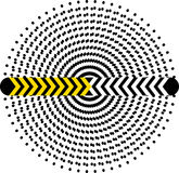 Hypnotic circle from dots Stock Image