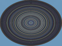 Hypnotic circle, musical plate on blue background Royalty Free Stock Photos