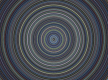 Hypnotic circle, musical plate on blue background Royalty Free Stock Photography