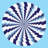 Hypnotic circles blue white. Hypnotic circles and spiral illusion Royalty Free Stock Image