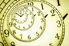 Hypnotic Clock Royalty Free Stock Photos