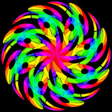 Hypnotic color swirl Stock Images