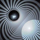 Hypnotic en Trillende Achtergrond van Kleurenstralen Abstracte Spiraalvormige draaikolk Stralende zonnestralendraaikolk royalty-vrije illustratie