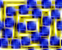 Hypnotic golden and blue background Royalty Free Stock Photo