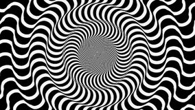 Hypnotic golvend rondschrijven royalty-vrije illustratie