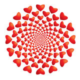 Hypnotic hearts Stock Images