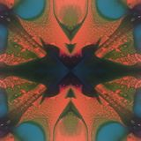 Hypnotic Ink Blot Spectrum Melting Wax Kaleidoscope Royalty Free Stock Photos