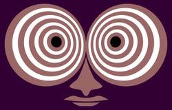 Hypnotic kijk. vector illustratie