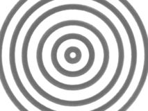 Hypnotic lichtgrijze cirkel op witte achtergrond royalty-vrije illustratie