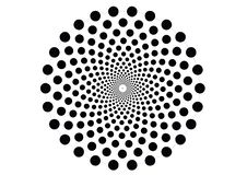 Hypnotic Movement Effect Background Pattern Texture. Black and white Format AI royalty free illustration
