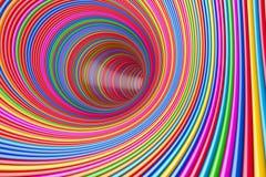 Hypnotic Psychedelische Veelkleurige Cirkelstunnel het 3d teruggeven royalty-vrije illustratie