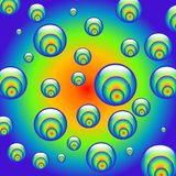 Hypnotic rainbow balls Royalty Free Stock Photos