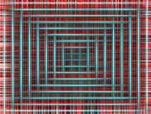 Hypnotic red square background Royalty Free Stock Photography