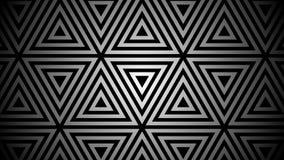 Hypnotic ritmische beweging van geometrische zwart-witte vormen stock footage